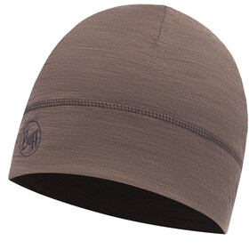 Buff Lightweight Merino Wool 1 Layer Hat Solid Walnut Brown